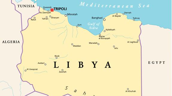 Map of Libya. Image: Thinkstock