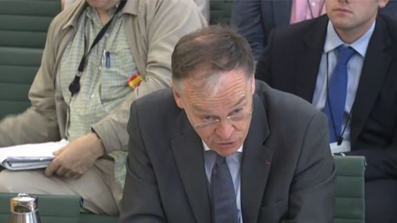 Vincent de Rivaz, CEO of EDF Energy. Image: Parliament TV