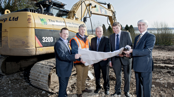 Shovels in the ground at Grange over Sands site.
