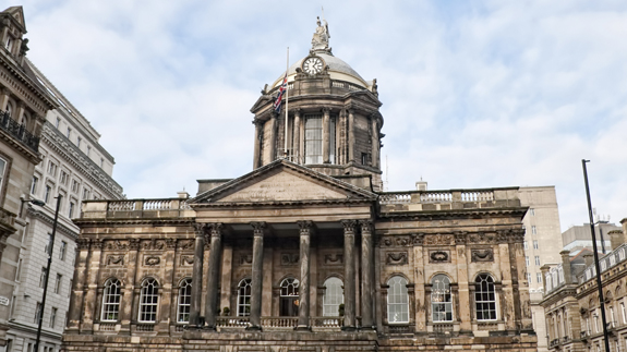 Liverpool Town Hall. Image: Thinkstock