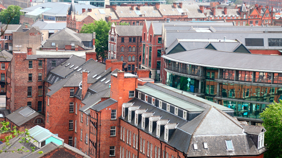 Nottingham, seen from above. Image: Thinkstock