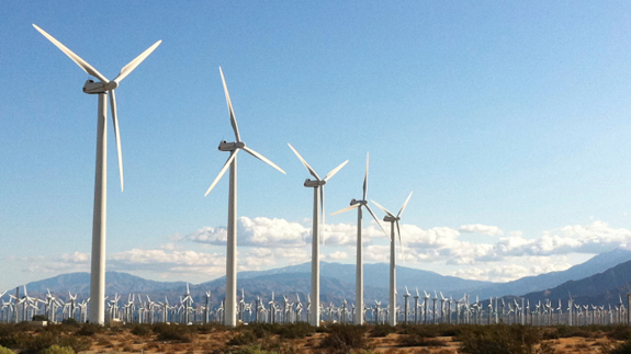 Onshore wind farm. Image: Thinkstock