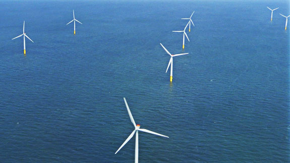 Gwnyt y Mor windfarm off north wales. Image: ELN