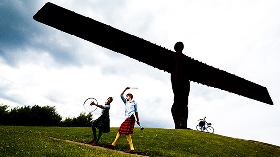 Theatre company Peculius took their HandleBards' show around the country. Image: Handlebards