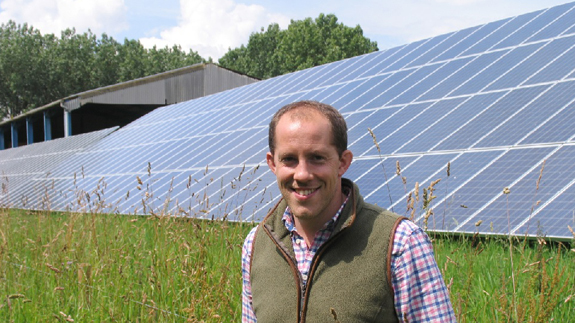 Alastair Priestley, Managing Director of Patrick Dean with the new solar panels.