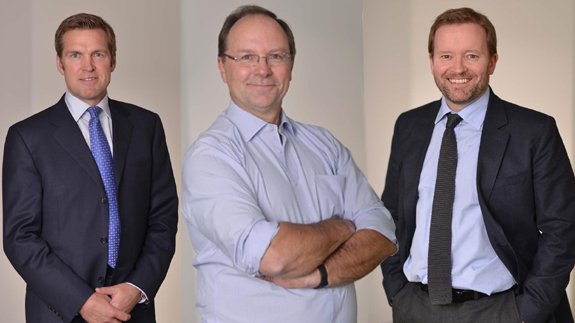The British Gas reshuffle affects Stuart Rolland, Ian Peters, Stephen Beynon (L-R). Images: British Gas