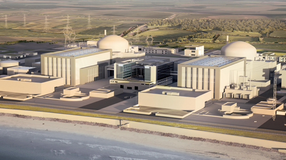 How Hinkley Point C will look once built. Image: EDF Energy