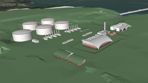 Artist's impression of South Hook CHP plant