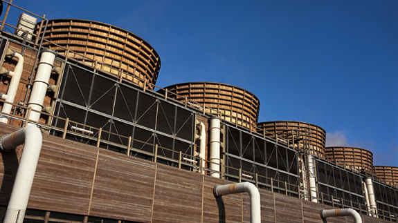 Didcot B power plant before the blaze. Image: npower