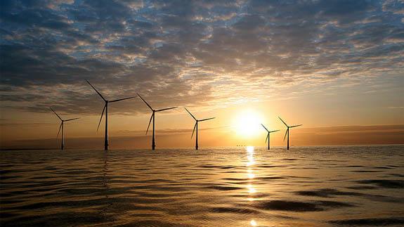 Kentish Flats offshore wind farm. Image: Vattenfall