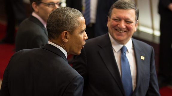 US President Barack Obama, European Commission President Manuel Barroso at EU-US Summit. Image: European Commission