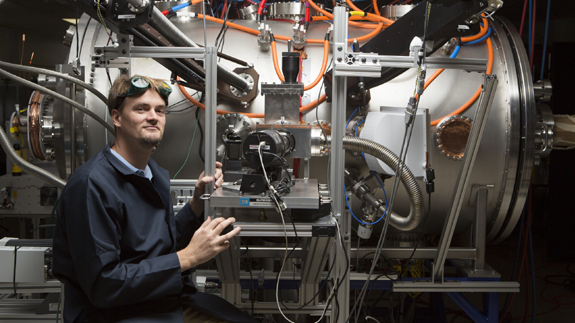 Lockheed Martin's Tom McGuire with compact nuclear fusion reactor testing. Image: Lockheed Martin