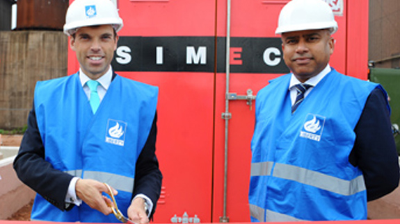Welsh Cabinet Secretary for Economy and Infrastructure, Ken Skates and Sanjeev Gupta. Image: Liberty